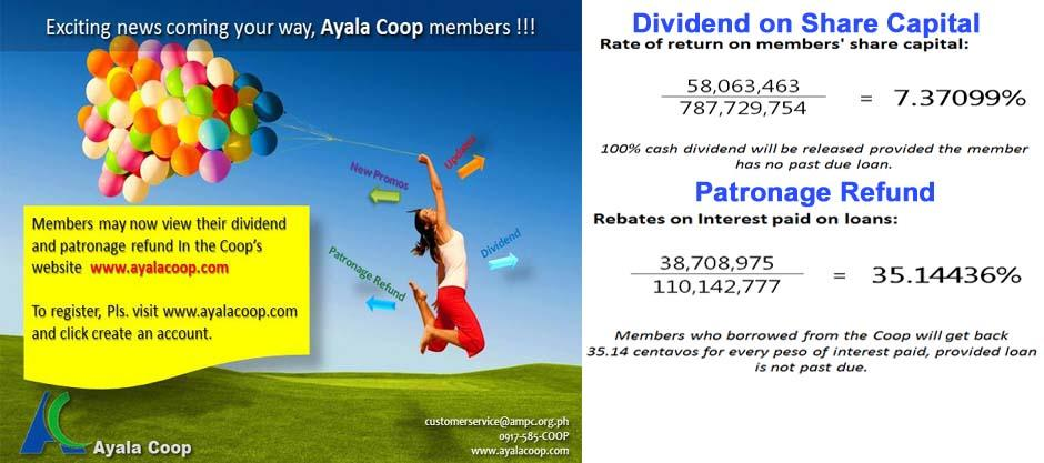 2012 Dividends and Patronage Refund